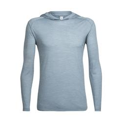 Icebreaker Sphere LS Hood - Mens-Vapour Heather