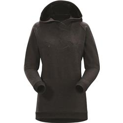 Arcteryx Archaeopteryx Pullover Hoody - Womens-Black Heather
