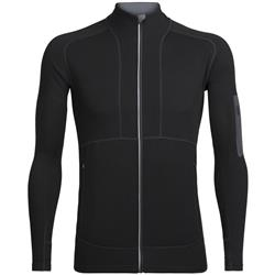 Icebreaker Tracer LS Zip- Mens-Black / Monsoon