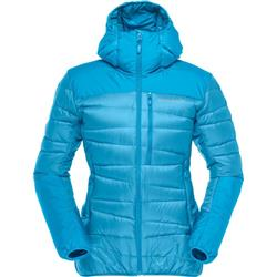 Norrona Falketind Down750 Hood Jacket - Womens-Blue Moon