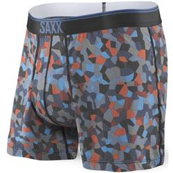Saxx Underwear Loose Cannon Print Fly - Mens-Navy Tile Camo