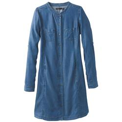 Prana Aliki Shirt Dress - Womens-Antique Blue