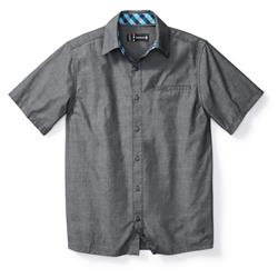 Smartwool Everyday Exploration Chambray SS Shirt - Mens-Dark Blue