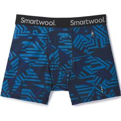 Smartwool Merino 150 Printed Boxer Brief - Mens-Bright Cobalt