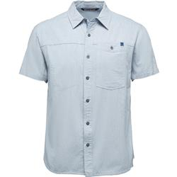 Black Diamond Chambray Modernist SS Shirt - Mens-Blue Steel
