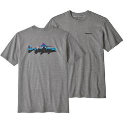 Patagonia Fitz Roy Trout Responsibili-Tee - Mens-Gravel Heather