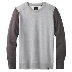 Prana Asbury LS Crew - Mens-Black Heather Colorblock