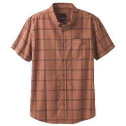 Prana Broderick Window Pane SS - Mens-Brown Cloves