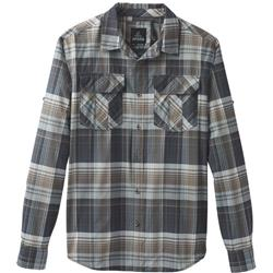 Prana Citadel Plaid LS - Mens-Coal