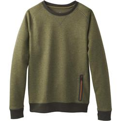 Prana Halgren Urban LS Crew - Mens-Cargo Green Heather