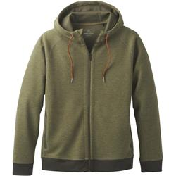 Prana Halgren Urban Full Zip Hoodie - Mens-Cargo Green Heather