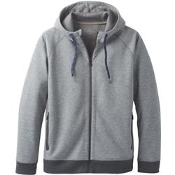 Prana Halgren Urban Full Zip Hoodie - Mens-Gravel Heather