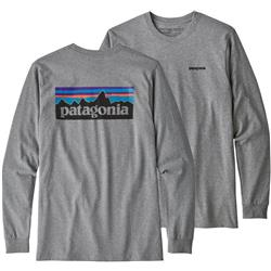 Patagonia P-6 Logo Responsibili-Tee LS - Mens-Gravel Heather