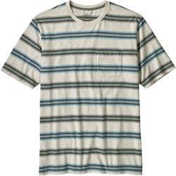 Patagonia Squeaky Clean Pocket Tee - Mens-Tarkine Stripe / Pelican