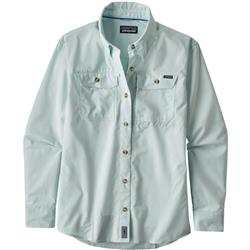 Patagonia Sun Stretch LS Shirt - Womens-Chambray / Atoll Blue
