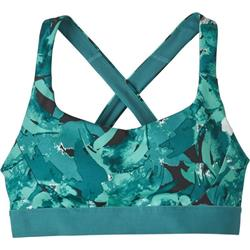 Patagonia Switchback Sports Bra - Womens-Abstract Jungle / Tasmanian Teal