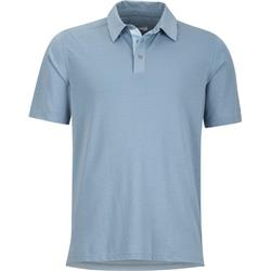 Marmot Wallace Polo SS - Mens-Blue Granite Heather