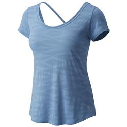 Mountain Hardwear Breeze VNT SS T - Womens-Storm Cloud