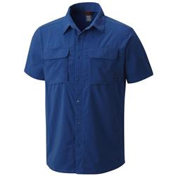 Mountain Hardwear Canyon Pro SS Shirt - Mens-Nightfall Blue