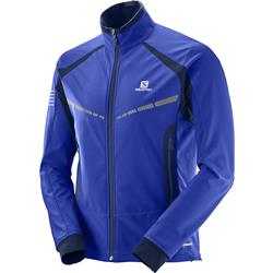 Salomon RS Warm Softshell Jacket - Surf The Web / Dress Blue - Mens-Not Applicable