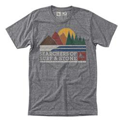 Hippy Tree Expedition Tee - Mens-Heather Grey
