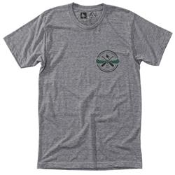 Hippy Tree Guide Tee - Mens-Heather Grey