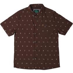 Hippy Tree Motif Woven - Mens-Rust