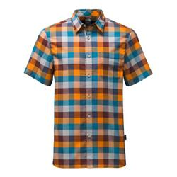 The North Face Road Trip Shirt SS - Mens-Sequoia Red Plaid
