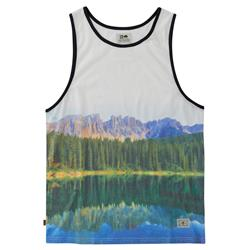 Hippy Tree Reflect Tank - Mens-White
