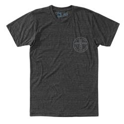 Hippy Tree Monument Tee - Mens-Heather Charcoal