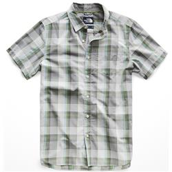 The North Face Hammetts Shirt SS - Mens-High Rise Grey Mylo Plaid