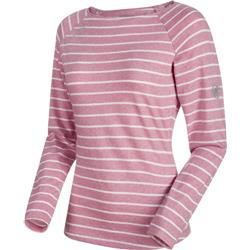 Mammut Wall LS - Womens-Rose Melange / White Melange