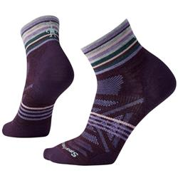 Smartwool PhD Outdoor Ultra Light Pattern Mini Socks - Womens-Bordeaux