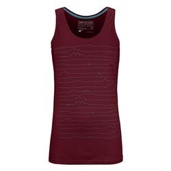 Ortovox 150 Cool Voice Tank Top - Womens-Dark Blood