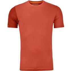 Ortovox 185 Rock`N`Wool SS - Mens-Crazy Orange