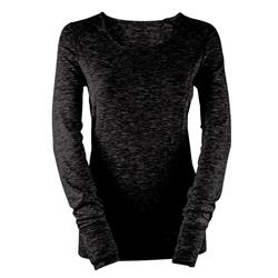 Bula Thermal Crew - Womens-Heather Black