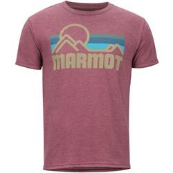 Marmot Marmot Coastal Tee SS - Mens-Burgundy Heather