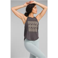 Prana Graphic You Tank - Womens-Charcoal Sizzle