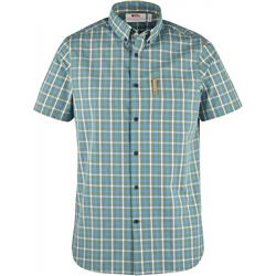 Fjallraven Ovik Shirt SS - Mens-Azure Blue