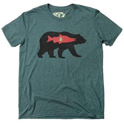 Westcoastees Tree Bear T-Shirt - Unisex-Green