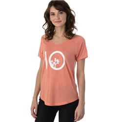 tentree Leaf Ten Tee - Womens-Burnt Coral
