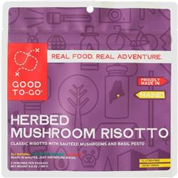 Good To Go Herbed Mushroom Risotto - Gluten Free / Vegan - Double Serving-Not Applicable
