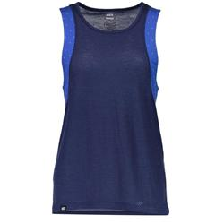 Mons Royale Kasey Relaxed Tank Mesh - Womens-Blue Dot / Navy