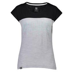 Mons Royale Phoenix Cap Tee - Womens-Black / Grey Marl