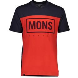 Mons Royale Redwood V T - Mens-Bright Red / 9 Iron