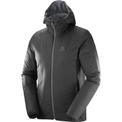 Salomon Drifter Mid Hoodie - Mens-Black / Forged Iron