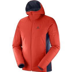Salomon Drifter Mid Hoodie - Mens-Fiery Red / Graphite