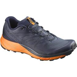Salomon Sense Ride - Mens-Navy Blazer / Bright Marigold / Ombre Blue