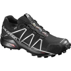 Salomon Speedcross 4 GTX - Mens-Black / Black / Silver Metallic-X