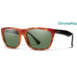 Smith Optics Tioga, Matte Honey Tortoise Frame, Polarized Gray Green / Chromapop Polarized Lens-Not Applicable